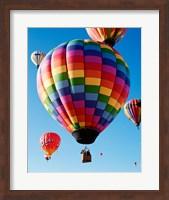 Gorgeous Rainbow Hot Air Balloon Fine Art Print