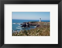 Lighthouse on the coast, Yaquina Head Lighthouse, Oregon, USA Fine Art Print