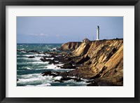 Lighthouse on the coast, Point Arena Lighthouse, Point Arena, California, USA Fine Art Print