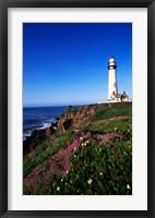 Lighthouse on the coast, Pigeon Point Lighthouse, Pigeon Point Light Station State Historic Park, California, USA Fine Art Print