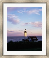 Portland Head Lighthouse Vertical Cape Elizabeth Maine USA Fine Art Print