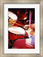Man playing the drums Fine Art Print