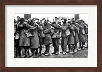 British 55th Division Gas Casualties April 10,1918 Fine Art Print