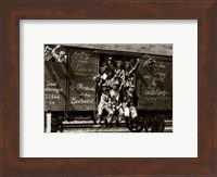 German Soldiers in a Railroad Car on the Way to the Front Fine Art Print