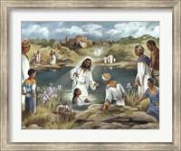 Baptism at River's Edge Fine Art Print