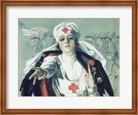Red Cross Nurse Fine Art Print