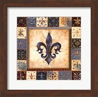 Bleu Fleur De Lis I Fine Art Print
