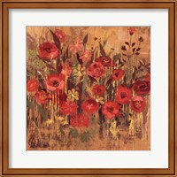 Red Floral Frenzy I Fine Art Print