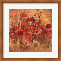 Red Floral Frenzy II Fine Art Print
