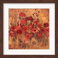 Red Floral Frenzy II Fine Art Print