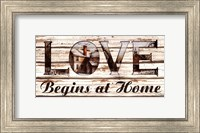 Love Begins at Home Fine Art Print