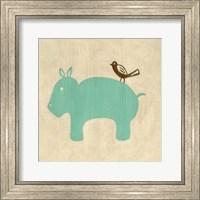 Best Friends- Hippo Fine Art Print