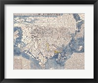 1710 First Japanese Buddhist Map of the World Showing Europe, America, and Africa Fine Art Print