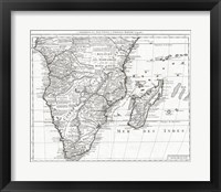 1730 Covens and Mortier Map of Southern Africa Fine Art Print