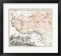 1743 Homann Heirs Map of West Africa Fine Art Print