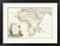1762 Janvier Map of Africa Fine Art Print