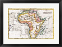 1780 Raynal and Bonne Map of Africa Fine Art Print