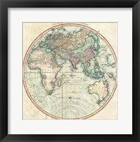 1801 Cary Map of the Eastern Hemisphere Fine Art Print