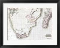 1809 Pinkerton Map of Southern Africa Fine Art Print