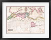 1818 Pinkerton Map of Northern Africa and the Mediterranean Fine Art Print
