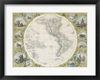 1850 Tallis Map of the Western Hemisphere Fine Art Print