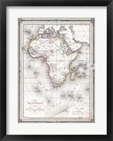 1852 Bocage Map of Africa Fine Art Print