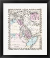 1855 Colton Map of Northeastern Africa Fine Art Print