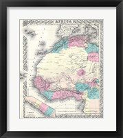 1855 Colton Map of Western Africa Fine Art Print