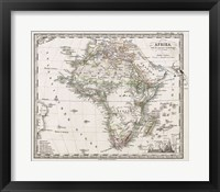 1862 Stieler Map of Africa Fine Art Print