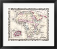 1864 Mitchell Map of Africa Fine Art Print