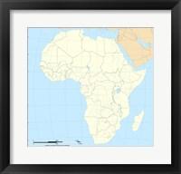 Map of Africa Fine Art Print