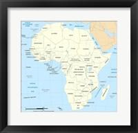 Africa Map Political Fine Art Print