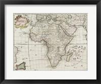 Map of Africa 1745 Fine Art Print