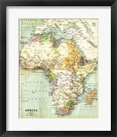 Map of Africa 1885 Fine Art Print