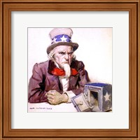 James Montgomery Flagg  -Uncle Sam With Empty Treasury 1920 Fine Art Print