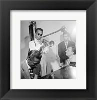 Howard McGhee, Brick Fleagle and Miles Davis, September 1947 Fine Art Print