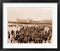 Crowd at Atlantic City 1910 Fine Art Print