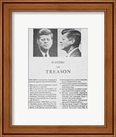 JFK Wanted Dallas, 1963 Fine Art Print