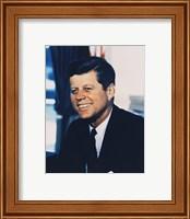 John F. Kennedy, White House Color Photo Portrait Fine Art Print