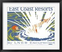 East Coast Resorts - London & North Eastern Railway circa 1930 Fine Art Print