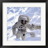 Michael Gernhardt in Space During STS-69 in 1995 Fine Art Print