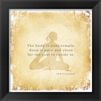 The Body is Your Temple Fine Art Print
