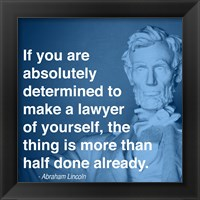 Lincoln Lawyer Quote Fine Art Print