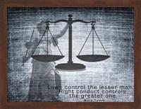Justice Law Mark Twain Quote Fine Art Print