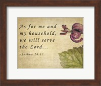 My Household Serves the Lord Fine Art Print