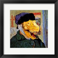 T Rex Van Gogh with Bandaged Battle Damaged Ear Fine Art Print