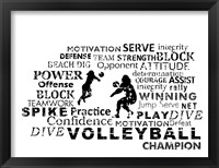 Volleyball Text Fine Art Print