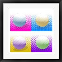 Volleyball Pop Squares Fine Art Print