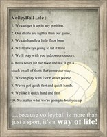 Volleyball Life Fine Art Print
