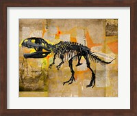 T Rex Skeleton Collage Fine Art Print